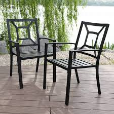 Amazon.com : PHI VILLA 2 Piece Black Metal Patio Chairs Square Back ... Amazoncom Strong Camel Bistro Set Patio Set Table And Chairs Metal Wrought Iron Fniture Outdoors The Home Depot Woodard Tucson High Back Coil Spring Chair 1g0066 Iron Patio Cryptoracksco Henry Black Cushions A Guide To Buying Vintage For Sale Decoration Shop Garden Tasures Of 2 Davenport Outdoor Rocking Gray Blue Used White Thelateralco Cevedra Sheldon Walnut Cane Cast Rolling Chaise Lounge