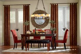 Panel Gathered Tab Top Fabric Pattern Window Treatments Curtains Drapes Draperies Blinds Dining Room