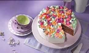 festliche blumen torte