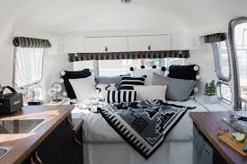 100 Inside An Airstream Trailer Trailer Is 140 Square Feet Of Vintage Style Made Modern