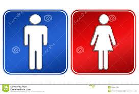 signe de toilettes de femme d homme photos libres de droits