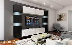 wohnwand future 14 moderne wohnwand exklusive mediamöbel tv schrank neue garnitur große farbauswahl rgb led beleuchtung verfügbar led weiss