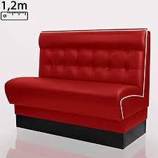 boston gastro sitzbank 120x95cm rot weiß chesterfield