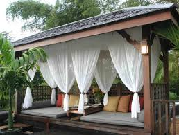 Outdoor Curtains Mosquito Drapes Porch Screens Contemporary Within