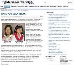 News Report List For Saipan Missing Girls Faloma And Maleina Luhk