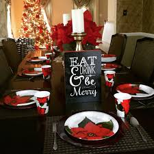 Bud Christmas Dinner Table Setting & Centerpieces