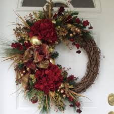 Crab Pot Christmas Trees Raleigh by Winter Christmas Wreath For Door Red And By Marigoldsdesigns