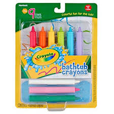 amazon com crayola 9 count bathtub crayons toys games
