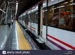 Side View of Metro Train with Open Doors Stock Royalty Free