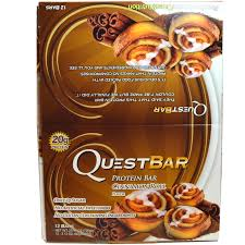 Quest Nutrition Protein Bar Cinnamon Roll Flavor 12 Bars 212 Oz