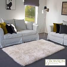 Bowron Sheepskin Area Rug 120 X 180cm In Champagne Costco UK