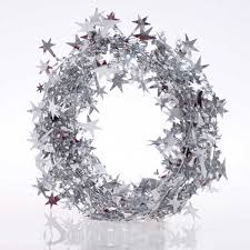 25m Christmas Tree Decoration Star Wire Foil Tinsel Garland
