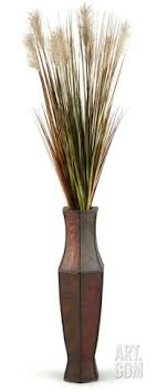 Tall Onion Grass Cream Plumes Floor Vase Home Accessories At Art