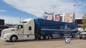 100 Production Truck Trailer Portion Of Dolphins Pregame Production Truck Recovered