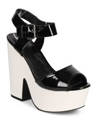 new women wild diva elfi 03 patent peep toe retro chunky heel