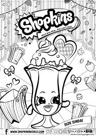 Print Shopkins Suzie Sundae Coloring Pages