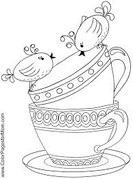 Coffee Coloring Page Tea Art Print Pages Colouring For Adults Images On Pot