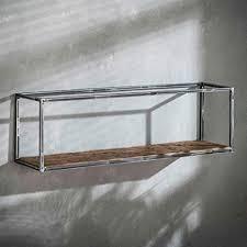 maison esto wandregal grained 100 cm regal metall hartholz