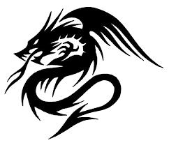 Black Tribal Dragon Tattoo Sample