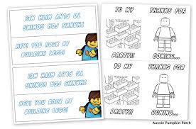 Lego Party Printables Aussie Pumpkin Patch