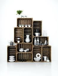 Wooden Crate Shelves Best Shelving Ideas On Wood