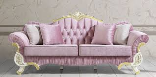 casa padrino baroque living room sofa with rhinestones pink white gold 228 x 105 x h 85 cm noble magnificent