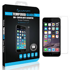 Amazon LUVVITT iPhone 6 6s TEMPERED GLASS Screen Protector