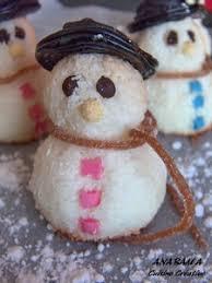 bonhommes de neige à la noix de coco recette