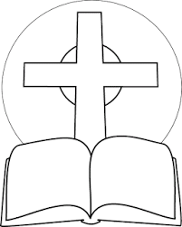 Kids Coloring Page Of Bible And Cross Design Picture Download Free Religious Images Jesus