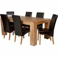 Buy Living Eden 180cm Oak Veneer Table And 6 Chocolate Chairs At Argosco