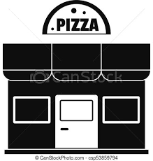 Pizza Shop Icon Simple Style