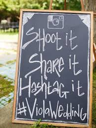 Shabby Chic Rustic Chalkboard Wedding Sign Ideas Outdoor Hashtag Signs