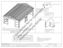How To Pole Building Construction by Pole Barn Lean To Plans Sds Plans