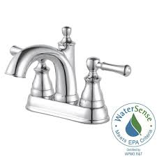 Pfister Faucets Home Depot by Pfister Venturi 4 In Centerset 2 Handle Bathroom Faucet In