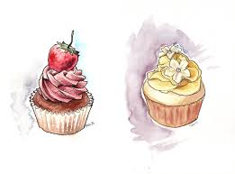 cupcake pastry illustration watercolor painting brittany norris illustrator