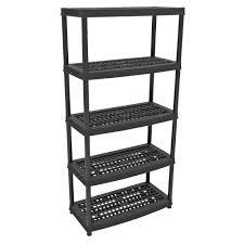 Super Ideas Plastic Storage Shelves Fine Decoration Ezy 5 Tier