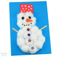 Cotton Ball Snowman Craft For Kids