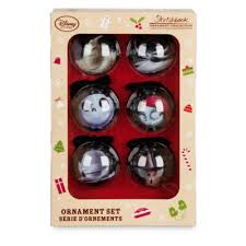 Nightmare Before Christmas Tree Toppers Bauble Set by The Nightmare Before Christmas Baubles Set Of 6