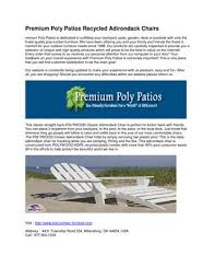 Premium Poly Patios Millersburg Oh by Polywood Folding Adirondack Chair By Premium Poly Patios By