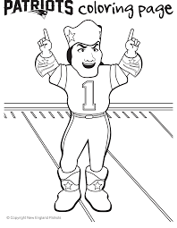 New England Patriots Mascot Coloring Page