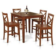 East West Furniture PUBS5-BRN-W Oakley 5piece Solid Wood Counter Height Table Set By Coaster At Dunk Bright Fniture Ferra 7 Piece Pub And Chairs Crown Mark Royal 102888 Lavon Stools East West Pubs5oakc Oak Finish Max Casual Elements Intertional Household Pubs5brnw Derick 5 Buew5mahw Top For Sets Seats Outdoor And Unfinished Dimeions Jinie 3 Pc Pub Setcounter Height 2 Kitchen