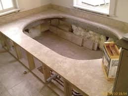 Tiling A Bathtub Deck by Custom Bathtub Decks Boston Worcester Ma Boston Granite Design