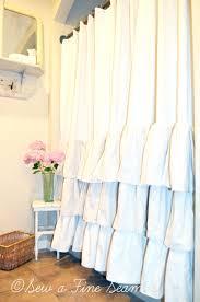 Curved Curtain Rod Kohls by Grey Ruffle Shower Curtain For Bathroom Decoration Ideas Christmas