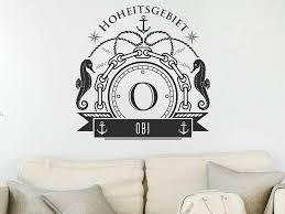 wandtattoo obi als monogramm türschild oder familienwappen