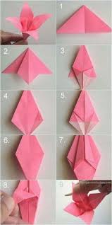 DIY Paper Origami Lily For Kids To Make Keep Them Accupied
