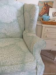 Ethan Allen Chippendale Wingback Chair by Chair Coral Print Slipcover For Ethan Allen Chair The Maker