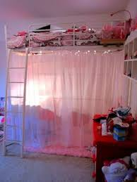Girl Loft Bed Ideas i want to do this but all the way from the