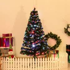 5 Artificial Holiday Fiber Optic LED Light Up Christmas Tree W 8 Settings And Stand
