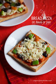 Bread Pizza On Tawa Recipe Paneer Thin Crust Margherita How To Make Without Oven