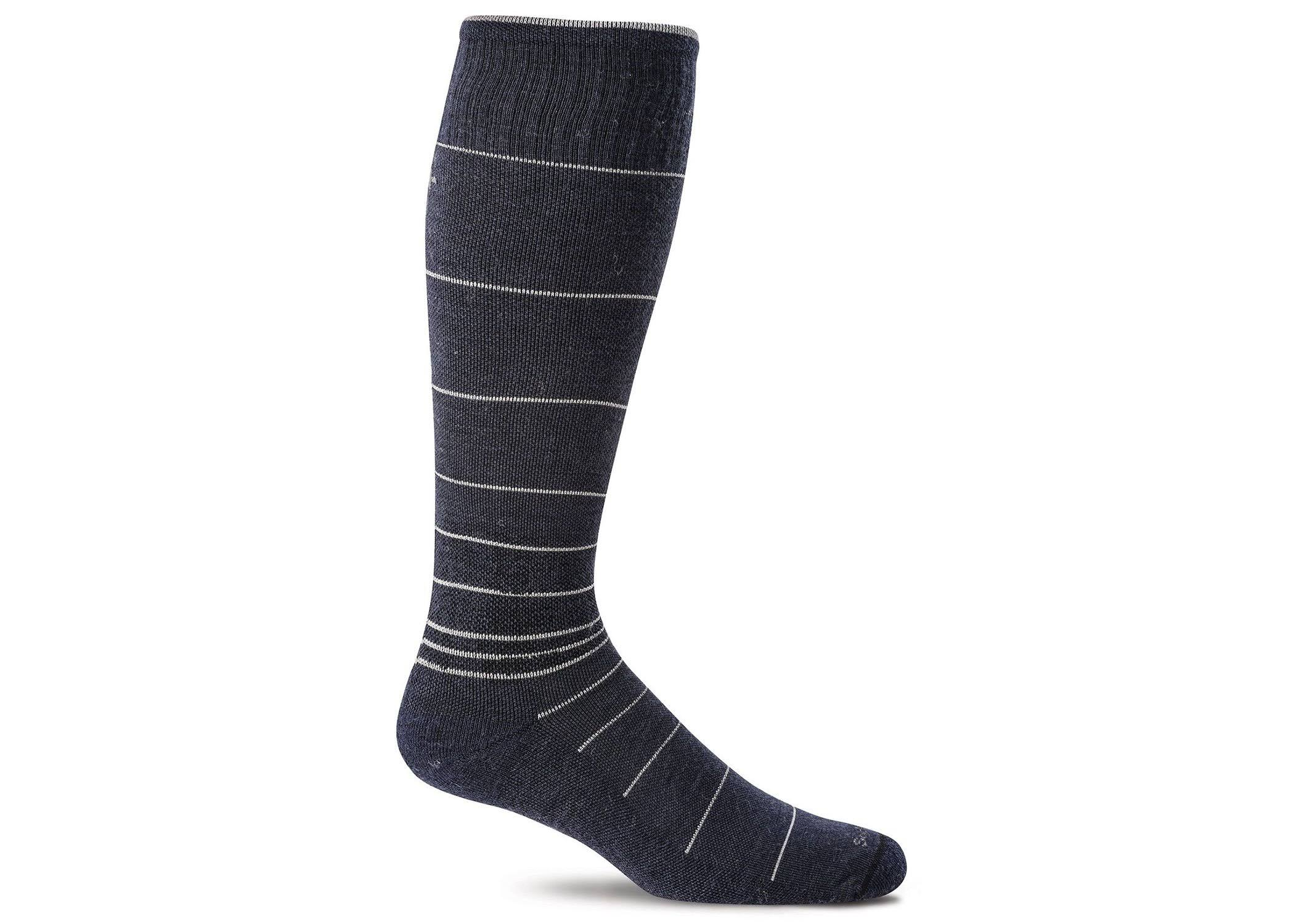 Sockwell Men's Circulator Compression Socks, Navy, Medium/Large
